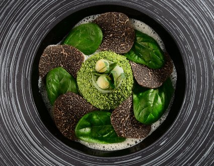 Vegetal Egg  with Black Diamonds from Provence